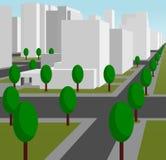 Улица в самомоднейшем городе бесплатная иллюстрация