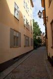 Улица в старом городке, Стокгольме Стоковые Изображения