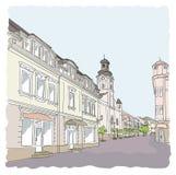 Улица в старом городке. Стоковое Изображение RF