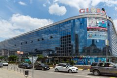 Улица в центре города Strumica, Республики Македония Стоковая Фотография RF