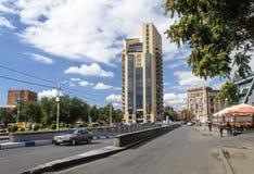 Улица в центре Еревана Стоковое Изображение