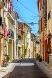 Улица в Argeles-sur-Mer в Пиренеи-Orientales, Франции стоковая фотография rf