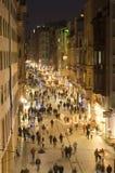 Улица в Beyoglu, Istanbul-Турция Istiklal Стоковая Фотография