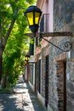 Улица в del Сакраменто Colonia стоковые фотографии rf