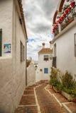 Улица в Mijas, Испании Стоковые Фотографии RF