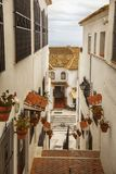 Улица в Mijas, Испании Стоковые Изображения RF