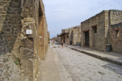Улица в pompeii Стоковая Фотография