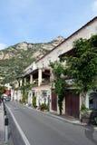 Улица в Positano Стоковое Фото