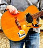 улица гитариста Стоковое фото RF