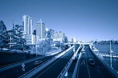 Улица города Брисбена стоковая фотография rf