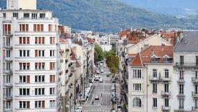 Улица города Гренобля акции видеоматериалы
