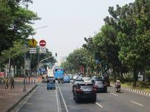Улица города Джакарты стоковые изображения