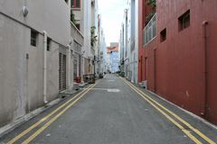 улица города пустая внутренняя Стоковое Изображение