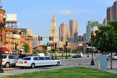 улица города boston стоковое изображение