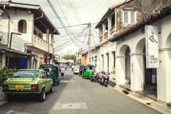 Улица городка Галле Стоковое фото RF