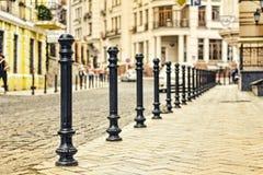 Улица, город, булыжник, Европа, старая, мостоваая, камень, европеец, архитектура, строя стоковая фотография rf