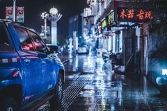 Улица горы Wuyi стоковое фото rf