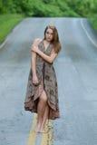 улица девушки Стоковая Фотография RF