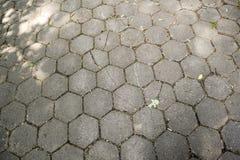Улица дорожки шестиугольника каменная Стоковые Фотографии RF