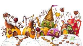 Улица земли конфеты зимы с ягодами и конфетами стоковое фото rf