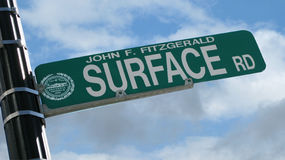 улица знака boston Стоковая Фотография RF
