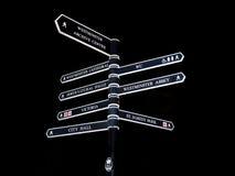 улица знака london Стоковое Изображение RF