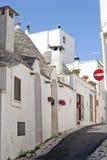 улица Италии apulia alberobello Стоковые Изображения