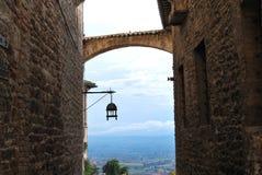Улица Италия Assisi Стоковая Фотография RF