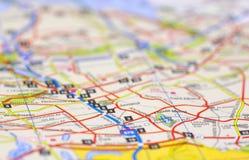 улица карты Стоковое Изображение RF