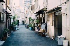 Улица кафа Nakazaki-cho винтажная в Осака, Японии стоковое изображение