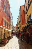 Улица Корфу Греция старого городка коммерчески Стоковые Фотографии RF