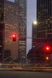 улица красного цвета первых светов Стоковая Фотография RF