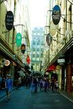 Улица Мельбурн Degraves стоковые фото