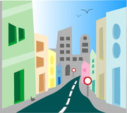 улица места города урбанская Стоковые Фотографии RF