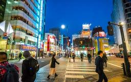 Улица моды Японии идя стоковые изображения rf