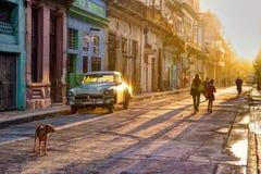 Улица на Гаване VÄ°eja Стоковое фото RF