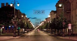 Улица на ноче. стоковая фотография rf