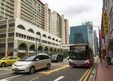 Улица на Чайна-тауне в Сингапуре Стоковое Изображение