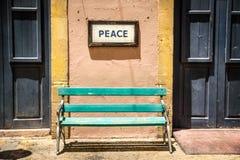 Улица Никосия Кипр Ledra контрольно-пропускного пункта границы Стоковое Фото