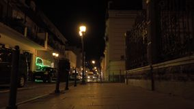 Улица ночи в городе Батуми, Georgia видеоматериал