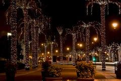 улица ночи Дубай Стоковое Изображение