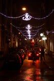 улица ночи жизни amsterdam нидерландская Стоковое Фото