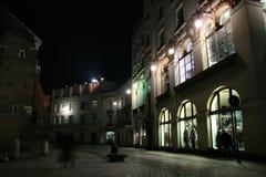 улица ночи жизни krakow Стоковые Фото