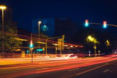 Улица ночи на заднем плане Стоковое Фото