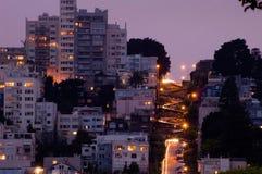 улица ночи lombard Стоковые Изображения RF