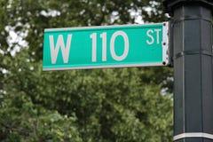 110 улица, Нью-Йорк Стоковые Фото