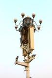 улица обеспеченностью светильника камеры стоковые фото