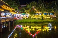Улица паба, Siem Reap, Камбоджа стоковые изображения