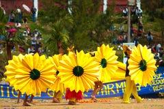 улица парада цветка празднества baguio Стоковые Фотографии RF