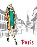 Улица Парижа Стоковое Изображение RF